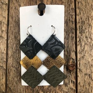 Handcrafted Genuine Leather Earrings